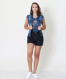 Imagem - Colete Feminino Jeans