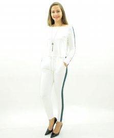 Imagem - Conjunto Moleton Feminino Calça com Faixa na Lateral