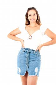 Imagem - Cropped Blusa Laise Ombro a Ombro