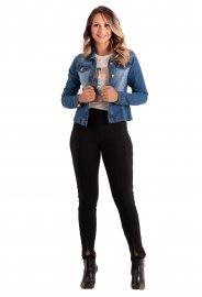Imagem - Jaqueta Jeans Feminina com Elastano