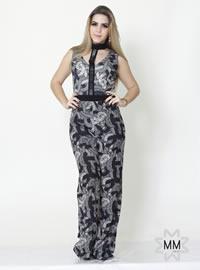 Imagem - Macacao feminino estampado bordado