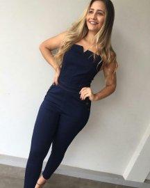Macacão Jeans Feminino