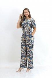 Imagem - Macacão Feminino Estampado Pantalona Planchet