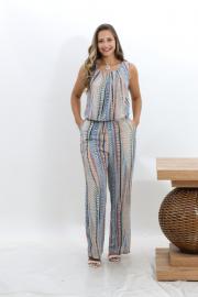 Imagem - Macacão Pantalona Estampa Geométrica