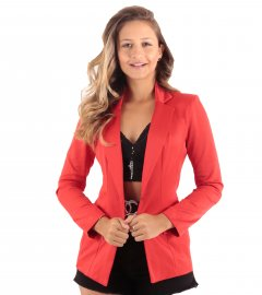 Maxi blazer Alongado Feminino Nakepe