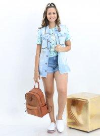Imagem - Maxi Colete Jeans Feminino