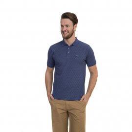 Imagem - Camisa Polo Masculina com Micro Estampas Oracon