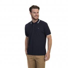 Imagem - Camiseta Polo Masculina Retilínea Oracon