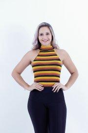 Imagem - Regata Feminina Listrado Canelada Chess