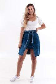 Imagem - Saia Jeans com Recorte Frontal