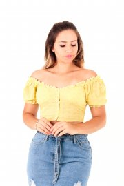 Imagem - Cropped Blusa Laise Ombro a Ombro