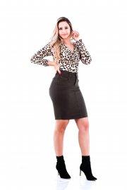 Imagem - Saia Sarja Secretaria Black Jeans