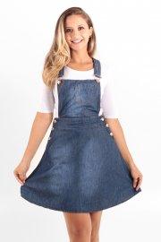 Imagem - Salopete Jeans Feminina Delicate