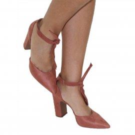 Imagem - Sapato Amarrar no Tornozelo Vizzano Salto Grosso
