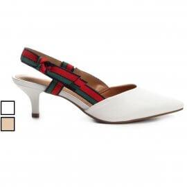 Imagem - Sapato Chanel Vizzano Salto Baixo Laço Gorgurão