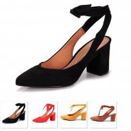 Imagem - Sapato Chanel Vizzano Salto Medio Amarrar No Tornozelo