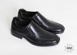 Sapato Joval Couro com Elastico Lateral para Calcar