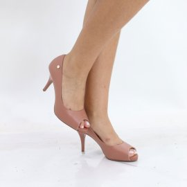Imagem - Sapato Peep Toe Salto Alto Vizzano Pelica
