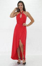 Imagem - Vestido Bana Bana Vermelho com Fenda