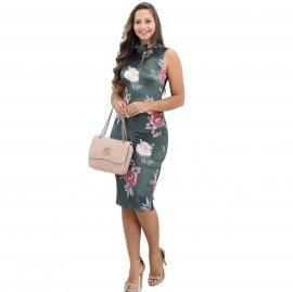Imagem - Vestido Bana Bana Midi Veludo Estampa Floral