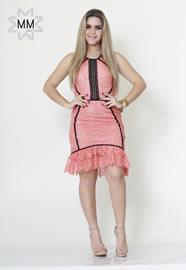 Imagem - Vestido renda com recortes