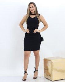 e511796356c2 Imagem - Vestido Casual Feminino Canelado