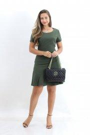 Imagem - Vestido Crepe com Peplum Planchet