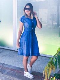 Imagem - Vestido Jeans Feminino Godê