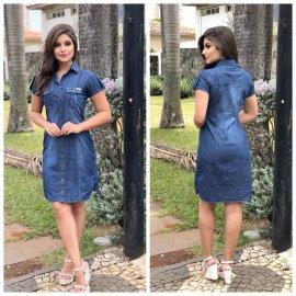 Imagem - Vestido Jeans feminino com Botões Frontais