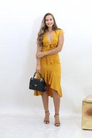 Imagem - Vestido em Linho Anchor Mullet com Laço