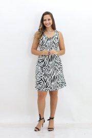 Imagem - Vestido Estampa Zebra Manga Curta Planchet