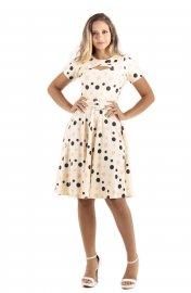 Imagem - Vestido Godê Feminino Com Cinto Moda Evangelica