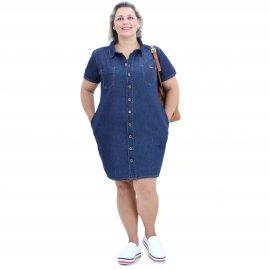 Imagem - Vestido Jeans Plus Size Botões Frontais
