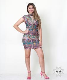 Imagem - Vestido Karmani Apliques Pedraria e Tule Renda