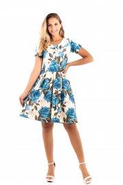 Imagem - Vestido Lady Like Estampa Floral Moda Evangélica