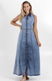 Imagem - Vestido Longo Jeans com Botões