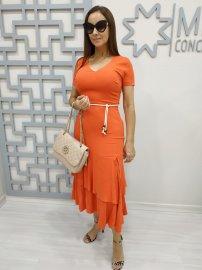 Vestido Midi com Babados Moda Evangélica