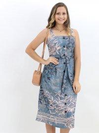 Imagem - Vestido Midi Feminino Moda Com Botões