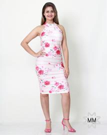 Imagem - Vestido MM Concept Midi e com Costas Vazada Elastano