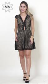 Imagem - Vestido MM Concept com Decote em Tule