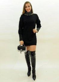 Imagem - Vestido feminino Lã Bordado