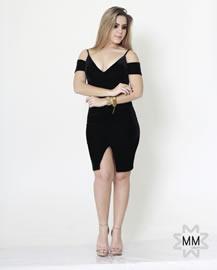 Imagem - Vestido veludo Ombro a Ombro