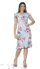 Imagem - Vestido tubinho com peplum estampado