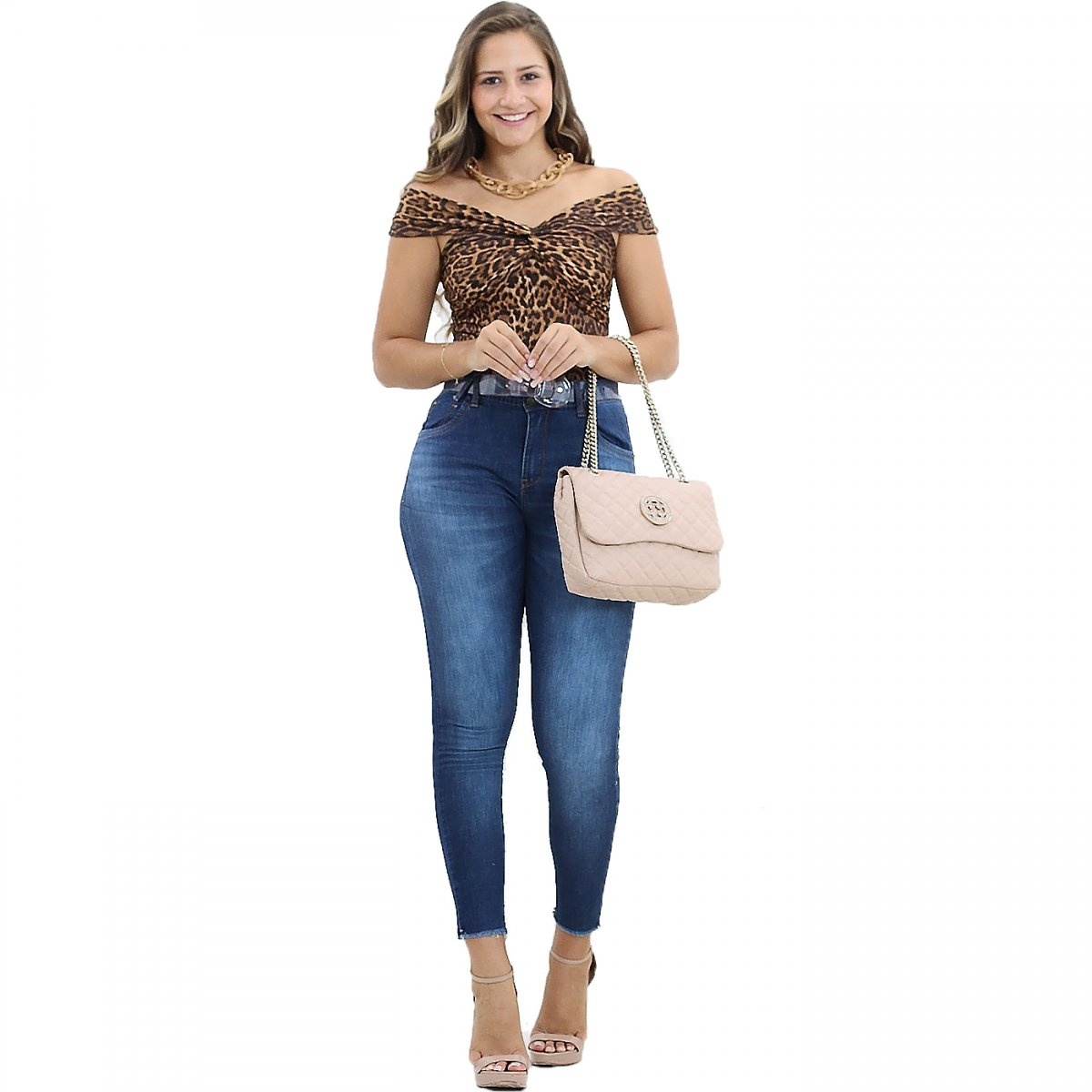 46e14d320 Calça Cigarrete Feminina Dardak Barra Desfiada Jeans - MM Concept