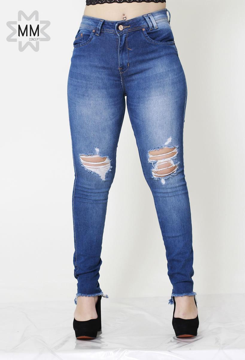 1305e9c33053c6 Calca Jeans Feminina Detonada