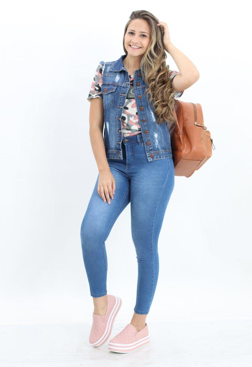 Colete Jeans Feminino Azul - MM Concept 8aff660a872
