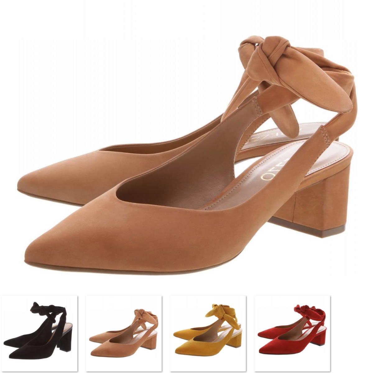 6fb579247 Sapato Arezzo Nobuck Chanel