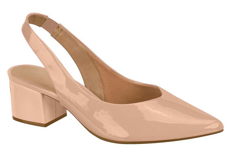 012eee4bc2 Sapato Chanel Vizzano Salto Grosso Nude - MM Concept