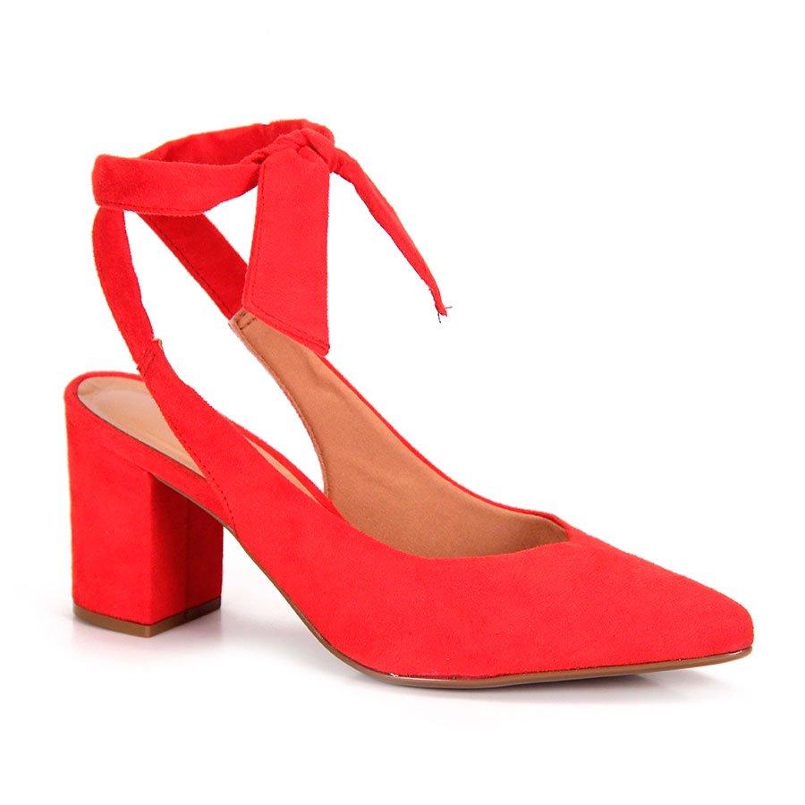 edb901960 Sapato Chanel Vizzano Salto Medio Amarrar No Tornozelo