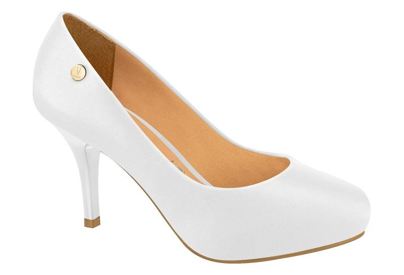 2ac2e71ea Sapato com Meia Pata Salto Alto Vizzano Pelica Branco - MM Concept